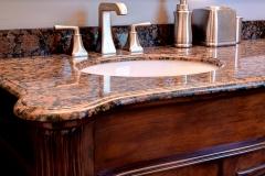 Bathroom Remodel Wood Tile, Stone Shower Floor, Window in Shower, Seamless Glass Shower Door
