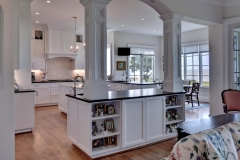 Open and Airy Kitchen in new Riverfront Home