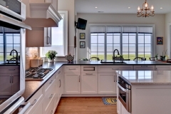 Kitchen with a view in New Riverfront Home