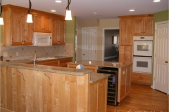 kitchen-with-wine-cooler-in-island