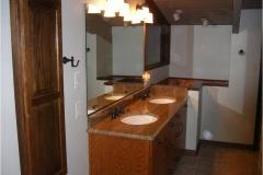 bathroom remodel, glass wall, storage