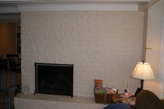 Fireplace Wall Before New Mantle