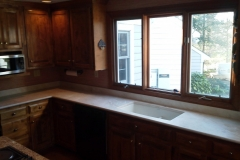 And the same view after new countertop installation