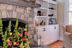 Custom Home- Family Room with Stone Fireplace