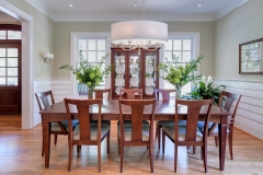 Custom Home with Shiplap Siding in Dining Room