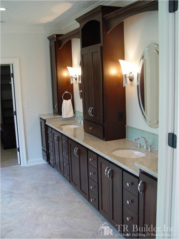 Building A Bathroom Vanity >> Master Bathroom, Closet and Exercise Room Remodel – T.R. Builder, Inc.
